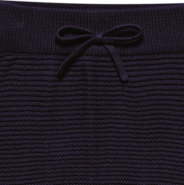 Edle Strickhose aus hochwertiger Biobaumwolle - neutral navy
