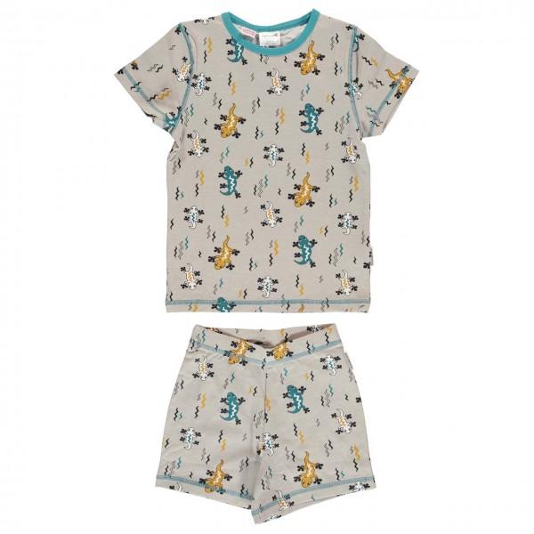 Sommer Pyjama Eidechse beige