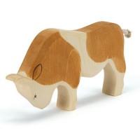 Stier Holzfigur stehend 10,5 cm hoch