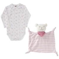 Vorschau: Geschenkset 3 tlg Bio Body Schmusetuch incl. Tasche rosa