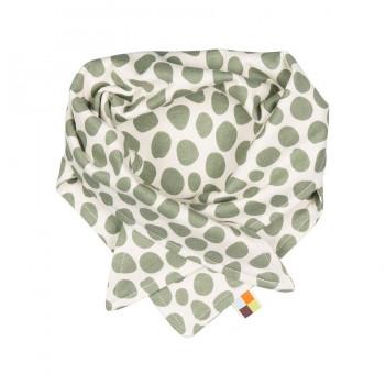 Punkte Dreiecktuch oliv-grün