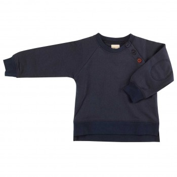 Sweatshirt mit Patsch in dunklem navy