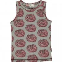 Unterhemd Rosen rosa grau