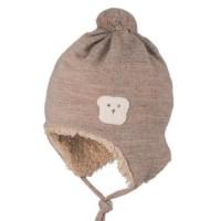 Winter Mütze Baumwoll-Plüsch außen Wolle Bär