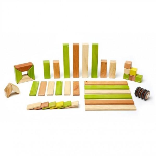 Magnet-Holzbauklötze 42-teilig Jungle