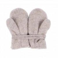 Bio Wolle Baby Handschuhe grau kaschmir