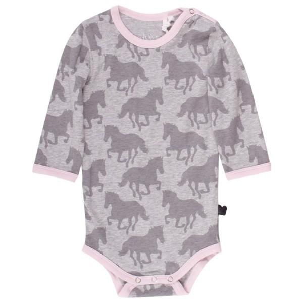 Pferde Baby Body - langarm soft