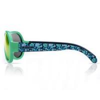 Vorschau: Sonnenbrille 7-16 Jahre schadstofffrei Bläter Print grün