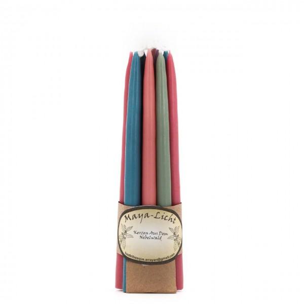 Maya Licht –Palmölfreie Kerzen 14cm 10er Set pastell