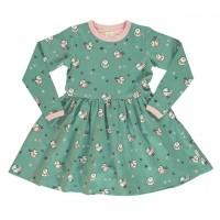 Flatter Kleid Spatz langarm elastisch