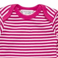 Vorschau: Bio Babybody griffig weich pink gestreift