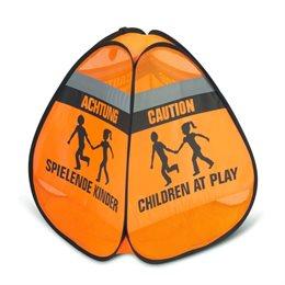"""3D-Straßenwarnschild """"Spielende Kinder"""""""