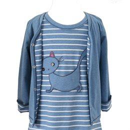 Kinder Wendejacke - hochwertig, edel & Alltagstauglich -blau