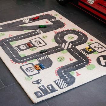 Spielteppich Pit Stop 140 x 100 cm aus BIO Baumwolle
