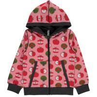 Rosa Apfel Kapuzenjacke Zipper