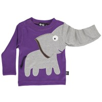 Cooles Elefanten Shirt robuster Interlock lila