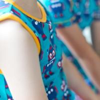 Roboter Kinder Unterhemd Bio