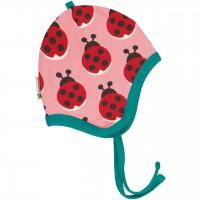 Mütze mit Ohrenschutz Nicki Marienkäfer rosa