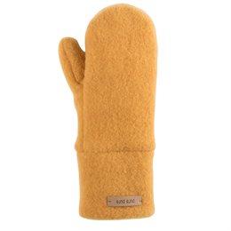 Bio Wolle Kinder Handschuhe honig