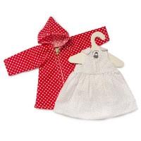 Nanchen Kleid & Mantel Pünktchen für Anziehpuppe