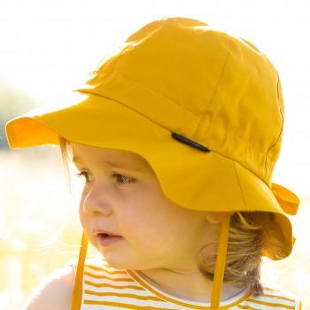 Sommermütze mitwachsend verstellbar mango-gelb