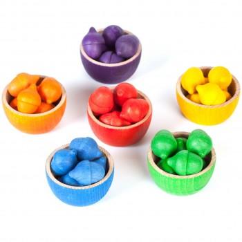 Bowls & acorns – kreatives Holzspielzeug Set ab 3 Jahren