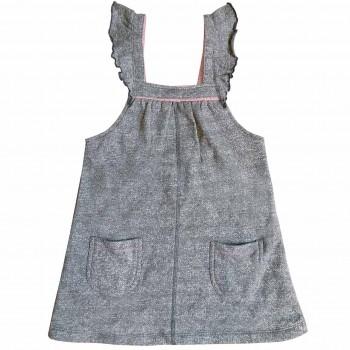 Sweat Kleid Rüschen schiefergrau melange