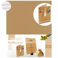 Kraftpapier DIN A4 100 Blatt beige