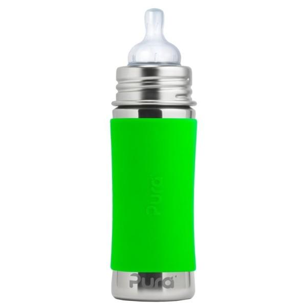 Pura kiki Babyflasche mitwachsend Lochgrösse mittel grün