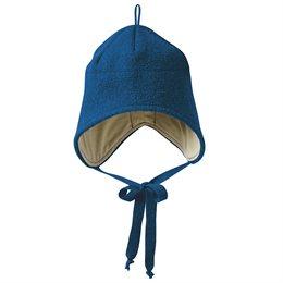 Wolle Wintermütze breiter Ohrenschutz marine