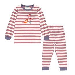Bio Pyjama rosa Vögelchen