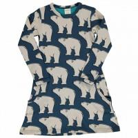 Kleid mit Taschen langarm elastisch mit Polarbären