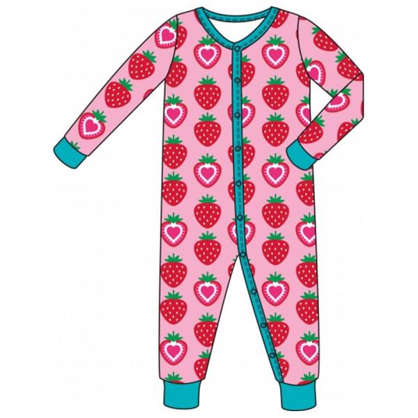 Leichter Babystrampler Erdbeere