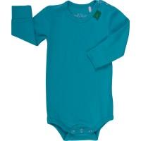 Vorschau: Dehnbarer Bio Body mit breiten Armbündchen - blau