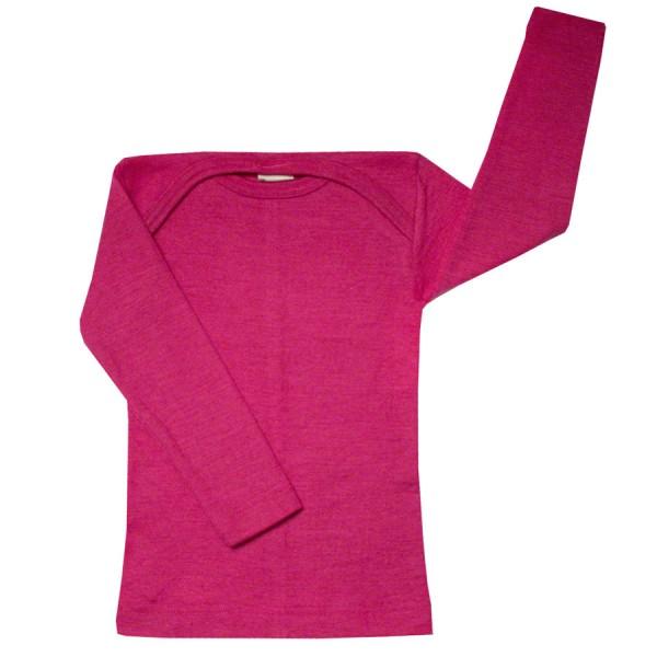 Atmungsaktives Wolle Seide Shirt pink