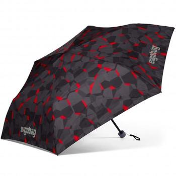 Kinder Regenschirm grau-schwarz