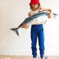 Fesche Mädchen Bio Hose - leicht und schick - blau