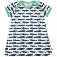 sommerliches Kleid Krokodile dunkelblau/hell