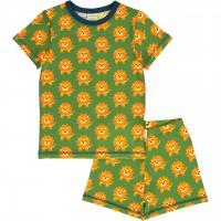 Sommer Schlafanzug Löwe grün