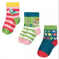 Baby Socken 3er Pack Blumenwiese