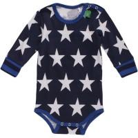 Vorschau: Bio Langarmbody Sternen für Jungen blau