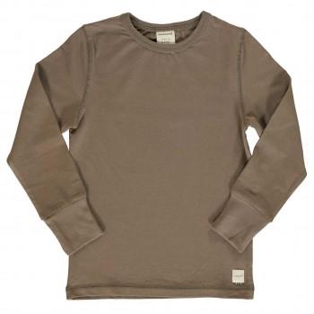 Shirt taupe langarm breite Armbündchen
