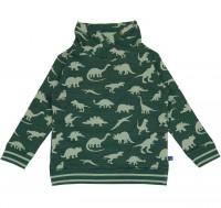 Sweat Pullover Dino-Druck salbei-grün