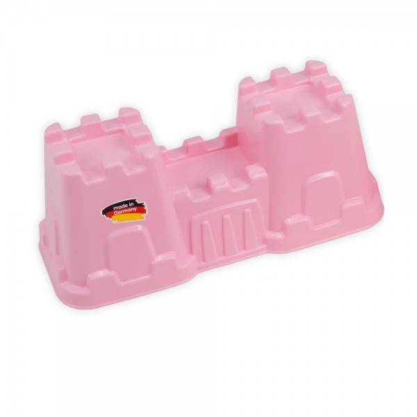 Sandform Burgtor mit Turm - rosa