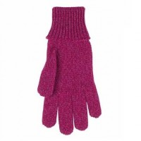 Fingerhandschuhe für Mädchen mit Umschlagbund Wolle Seide