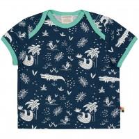 Leichtes Kurzarm Shirt Dschungel dunkelblau