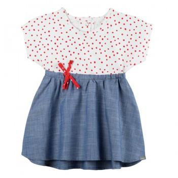 Sommerkleid ohne Shorts Punkte rot