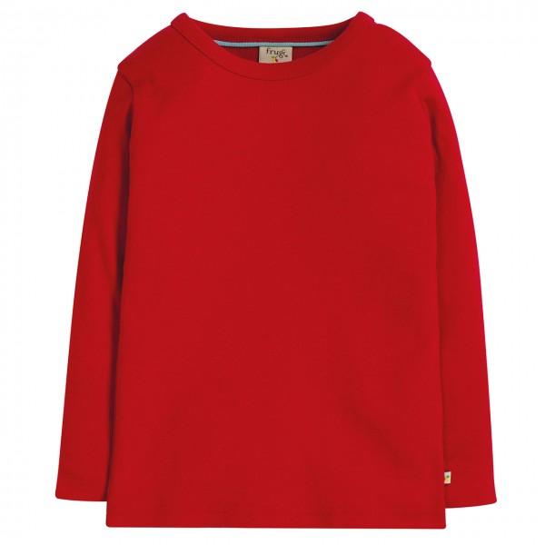 Uni Langarmshirt in rot