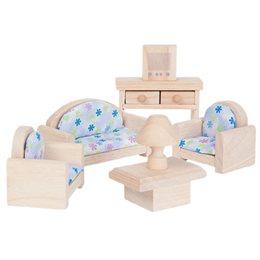 Wohnzimmer naturbelassen fürs Puppenhaus