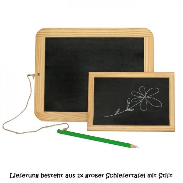 Holz-Schiefertafel für Kinder - groß